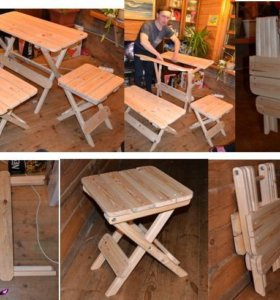 Складная мебель (табурет, стол, кресло)