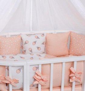 Бортики в детскую кроватку (23 предмета)