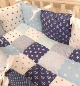 Бортики в кроватку и буквы- подушки