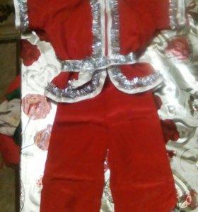Новогодний костюм санты для мальчика