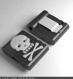 Cherub ST-711-BK Skull цифровой тюнер для гитары