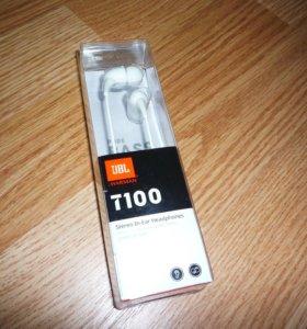 Наушники JBL T100 (есть - черные и белый цвета)