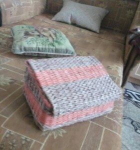 Хлебницы из бумажной лозы