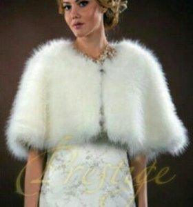 Свадебное платье и шубка натуральная пуховая