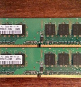 Samsung 512MB 1Rx8 PC2-4200U-444-12-D3 DDR2