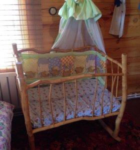Берёзовая кровать для малыша