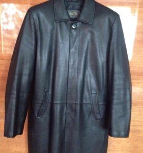Мужское коженное пальто