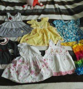 7 платьев на девчушку