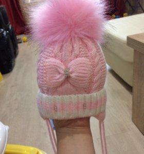 Новая шапочка для малышки грудничка Дочки-сыночки