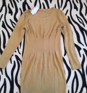 Платье новое, цвет горчичный