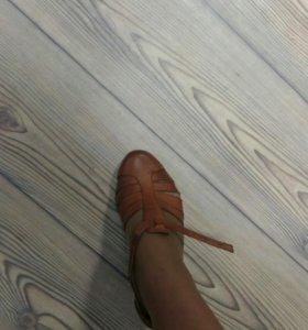 Туфли кожаные 40р