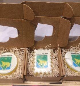 Мыло с гербом в подарочной упаковке