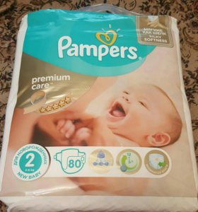 Подгузники Pampers premium care mini 3-6 кг, 80 шт
