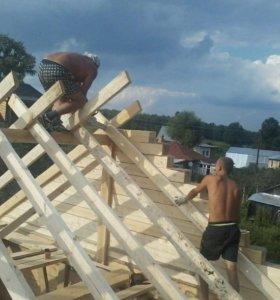 Бригада строителей, делаем сами, работы на фото.