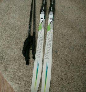 Лыжи детские + палки