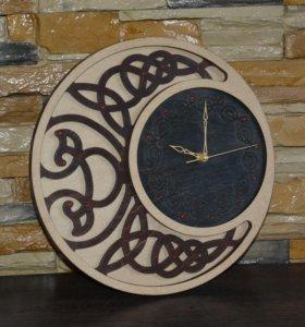 """Часы """"Ажурные"""" с гравировкой"""