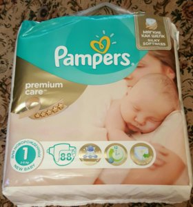 Подгузники Pampers premium care 2-5 кг, 88 шт