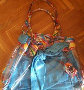 Женская летняя сумка (пляжная)