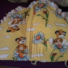 Бортики в кровать, одеяло