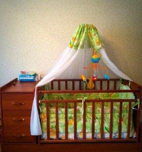 Детская кровать-трансформер все включено.