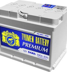 "Автомобильный аккумулятор ""Tyumen Premium"" 6ст-64А"