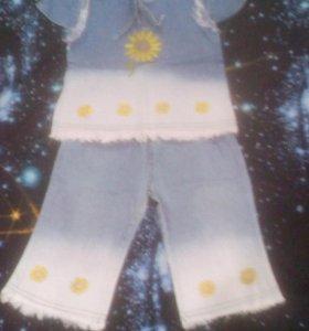 Комплект джинсовый кофточка и брючки