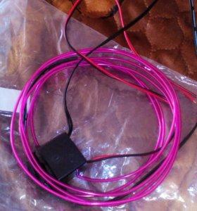 Неоновый провод 2метра