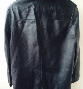 Кожаная куртка-френч