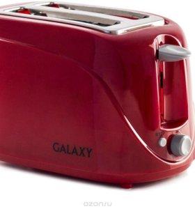Тостер электрический Galaxy красный