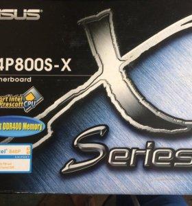 Материнская плата P4P800S-X с процессором и ОЗУ