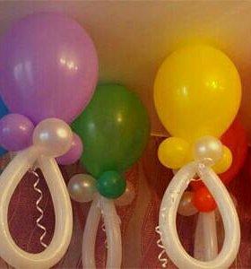 Гелиевые соски из воздушных шаров!
