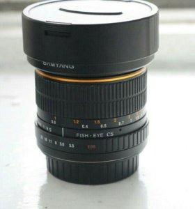 Samyang fish eye cs 8mm для Canon