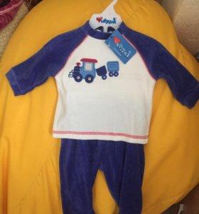 Детский велюровый костюмчик