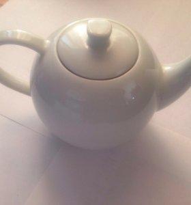 Заварочный чайник, белый