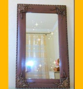 Зеркало с рамой ручной работы