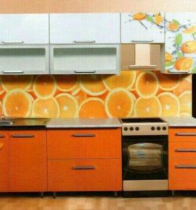 Кухонный гарнитур цитрус фотопечать.