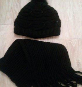 Шапка и шарф идеальное состряние