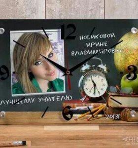 Подарок . Часы настенные с фотографией
