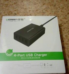 Зарядное устройство на 4 USB порта UGREEN Charger