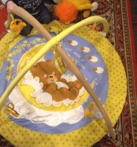 Развивающий коврик+ круг для купания малыша