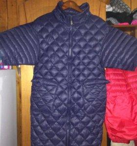 Пальто стёганное демисезонное