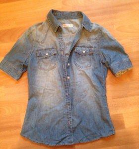 Джинсовая рубашка 42 р-р