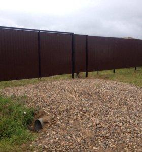 Заборы, откатные ворота.