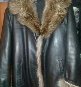 Куртка мужская...кожанная.новая..