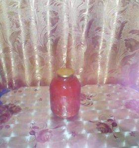 Томат (томатный сок) в банках по 3 литра