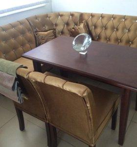 Кухонный угол мягкий со столом
