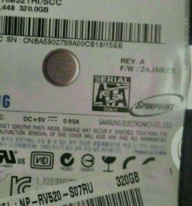 Жесткий диск на ноутбук samsung Rv520