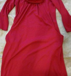 Платье для беременных с замочками на груди