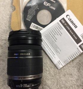 Объектив Canon EF-S 18-200 f/3.5-5.6 IS+фильтр