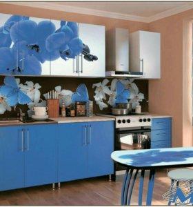 Кухонный гарнитур Синяя Орхидея фотопечать